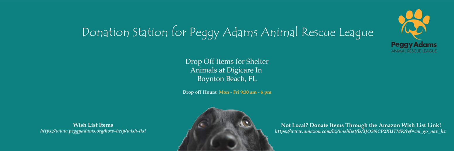 Donation Station for Peggy Adams Animal Rescue League